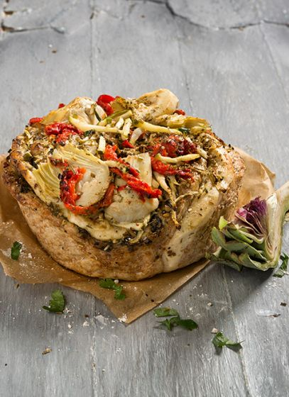 Courgette - Artisjok hartig brood