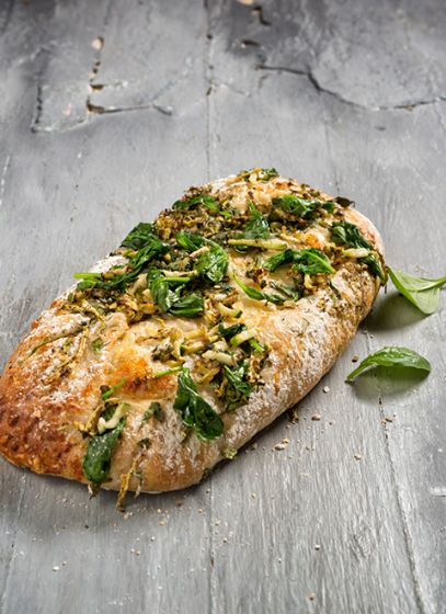 Hartig Geitenkaas Courget Pancetta Brood