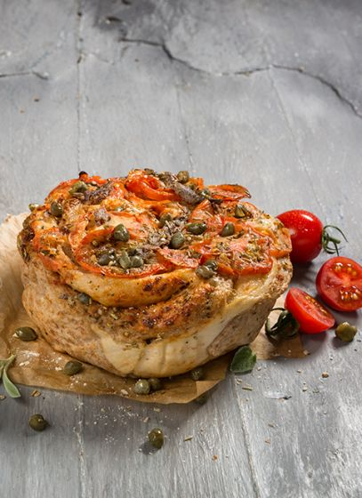 Hartig brood Tomaten – Ansjovis